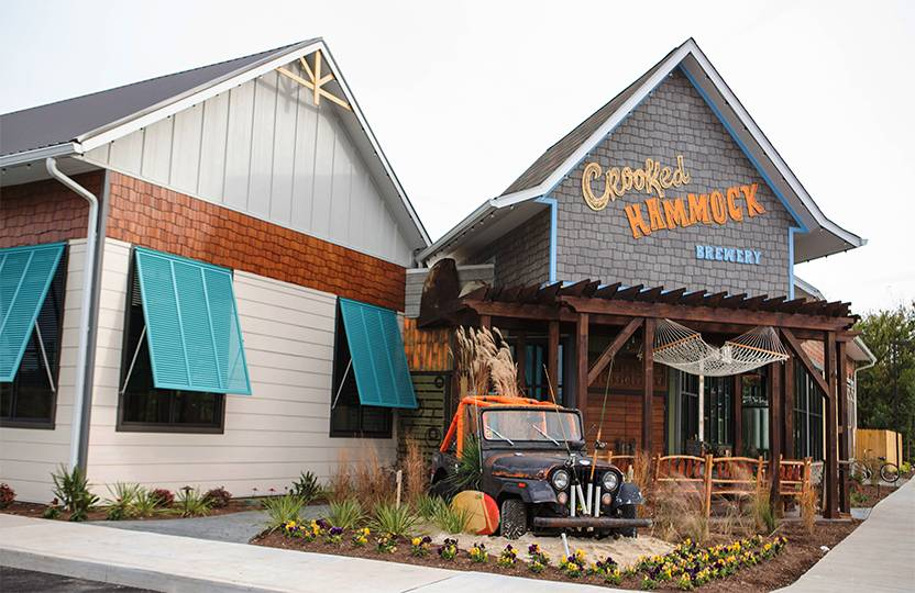 Exterior of Crooked Hammock Brewery